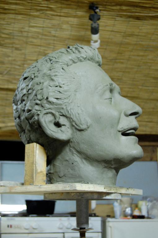 Modelado de cabeza en arcilla